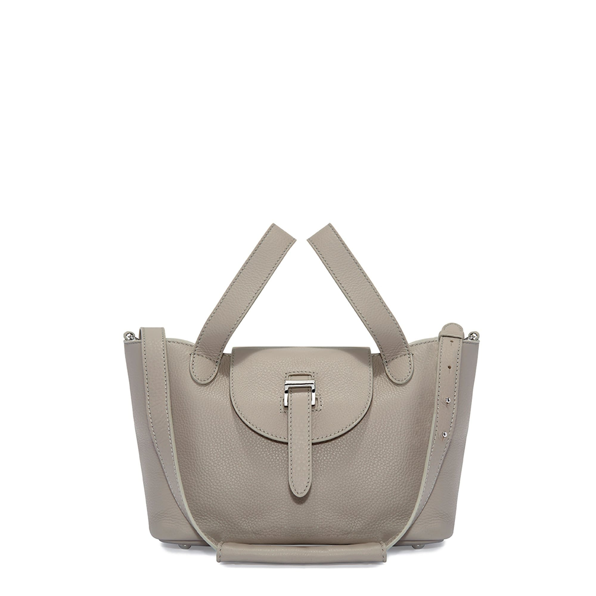 Thela Mini Taupe Grey with Zip Closure Cross Body Bag  for Women - meli melo Official