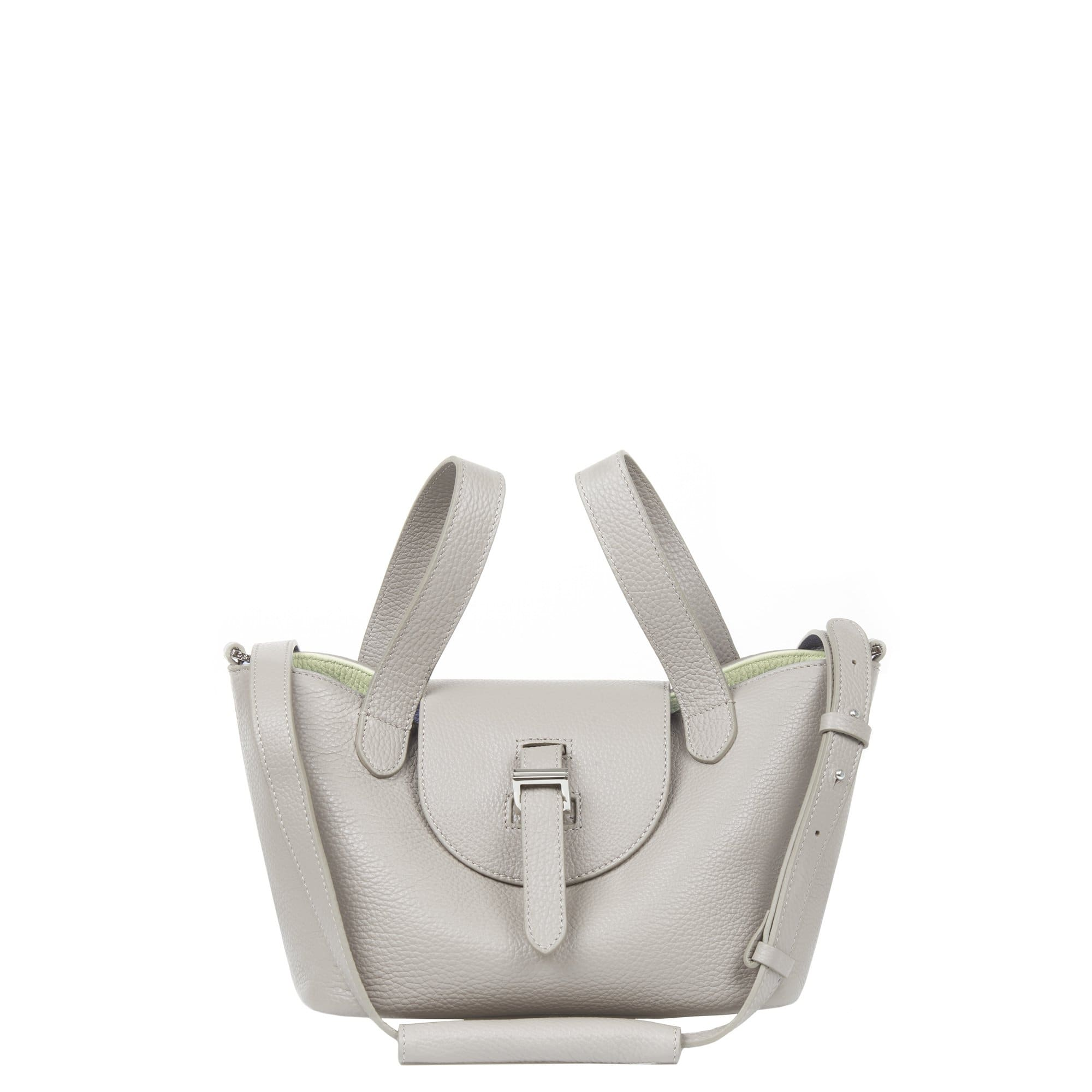 Meli Melo MELI MELO THELA MINI TAUPE AND APPLE CROSS BODY BAG FOR WOMEN