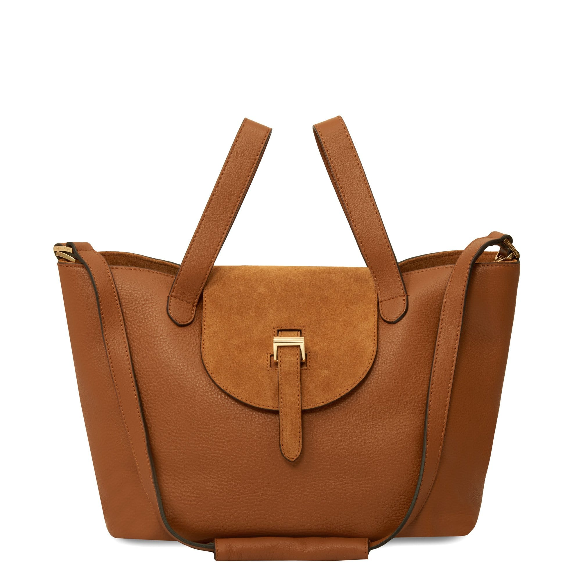 Thela Medium Classic Tan & Caramel Suede Pop - meli melo Official