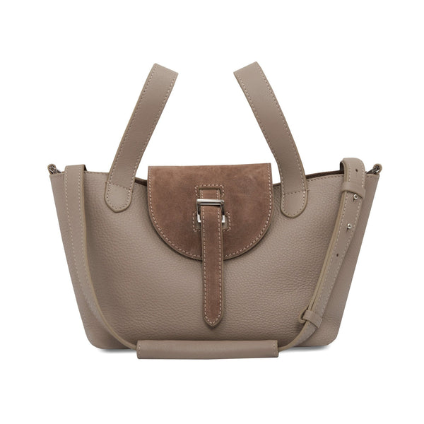 Thela Mini Taupe & Suede Detail - meli melo Official