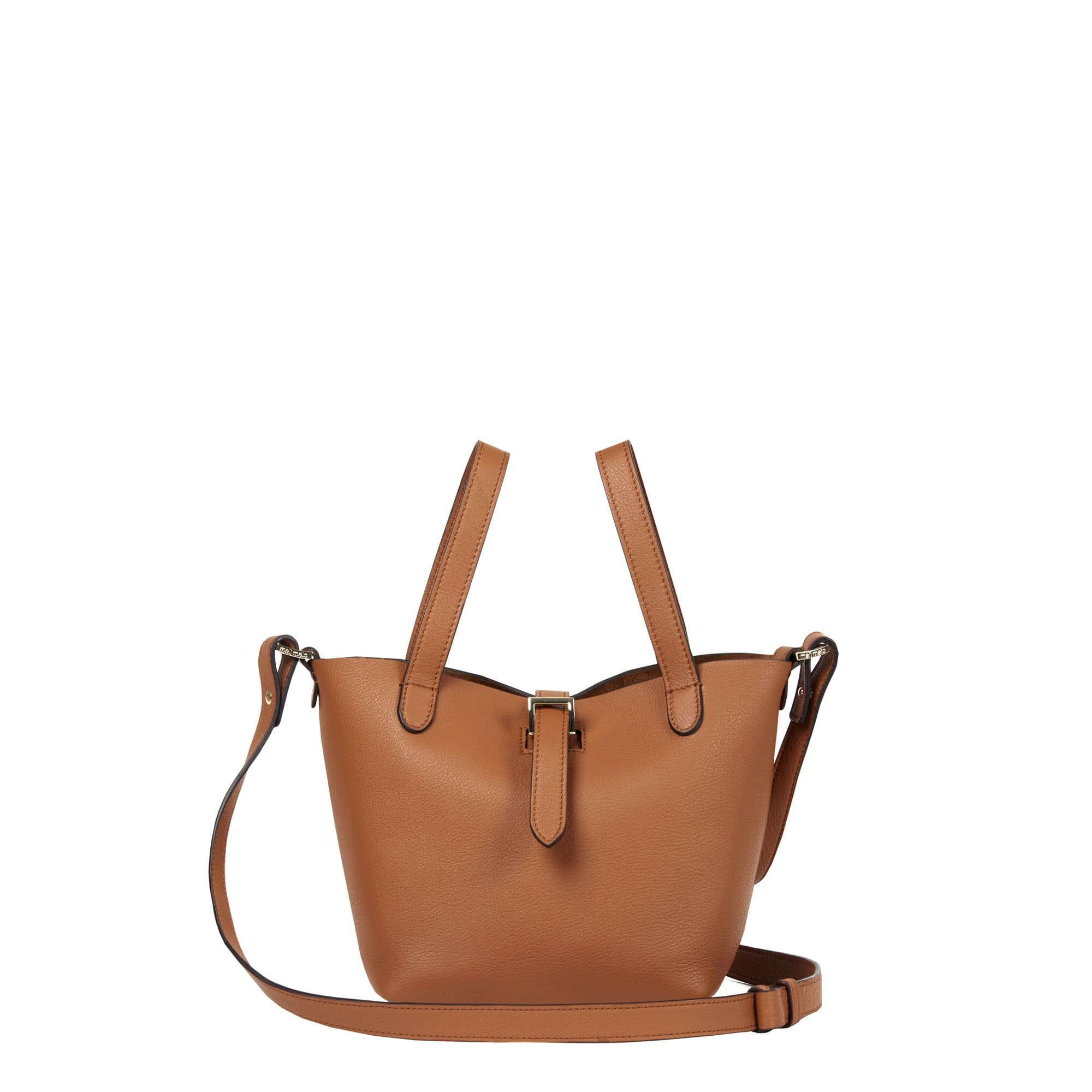 Thela Mini Shopper Tan Brown Leather Cross Body Bag for Women - meli melo Official