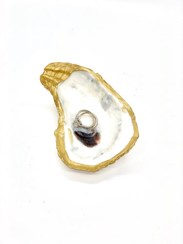 The Gilded Shell - Trinket Dish - 18k gold leafed edge - Product - 3