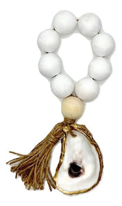 The Gilded Shell - Boho -  Tide Pool - 18k Gold Gilded Oyster Shell - Solid White -Product -1