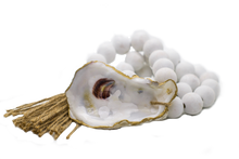 Load image into Gallery viewer, The Gilded Shell - Coastline - The Boho - 18k Gold Gilded Oyster Shell-Product-Main