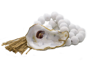 The Gilded Shell - Coastline - The Boho - 18k Gold Gilded Oyster Shell-Product-Main