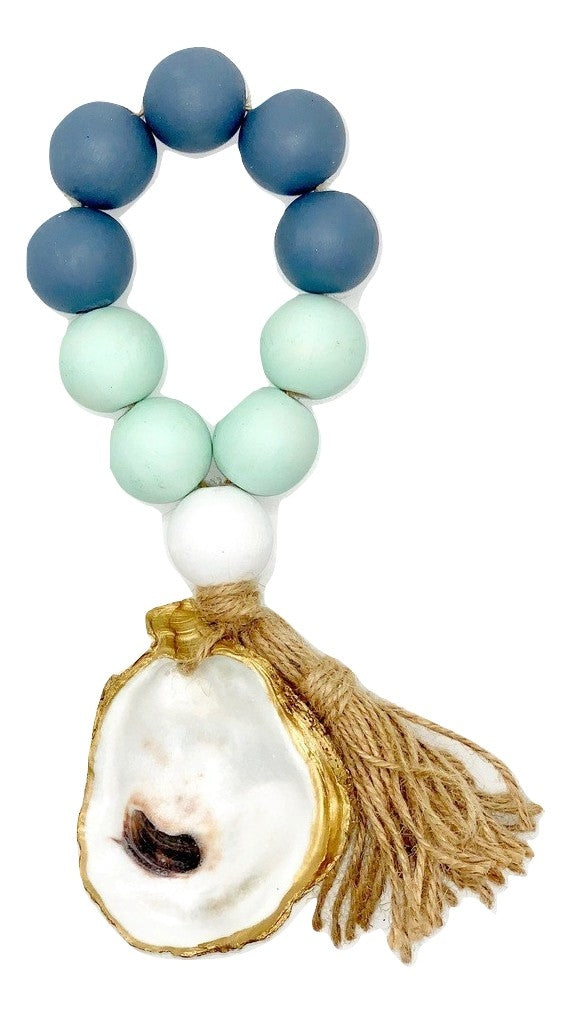 The Gilded Shell - Outer Banks -  Tide Pool - 18k Gold Gilded Oyster Shell - Blue Green Combo -Product -1