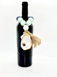 The Gilded Shell - Outer Banks -  Tide Pool - 18k Gold Gilded Oyster Shell - Blue Green Combo -Lifestyle 1