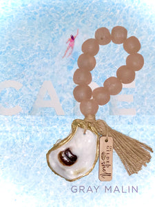 The Gilded Shell  -  Tide Pool - 18k Gold Gilded Oyster Shell - Rose Sea Glass -Lifestyle - 1