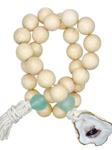 The Gilded Shell - Nude Beach - Chunky Coastline - Aqua Sea Glass - Gold Leafed oyster Shell - Product Photography 1