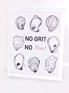 The Gilded Shell - No Grit No Pearl Greeting Card - Lifestyle Photo - 1