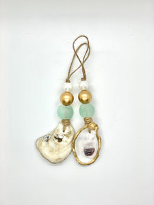 Gold Eco-Friendly - Sea Glass Ornaments (Set of 2)