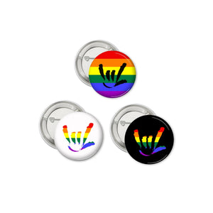Rainbow I.LY Pins