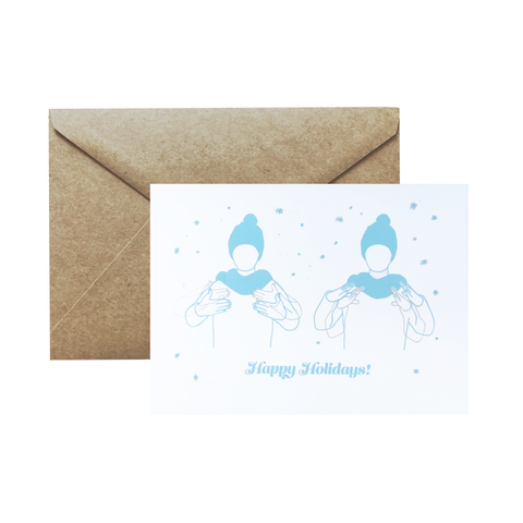 """Happy Holidays"" card in ASL by YOUMEE LEE"