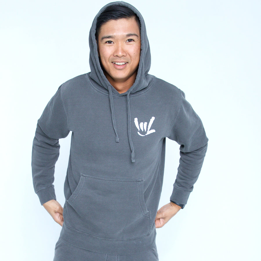 UNISEX'S WASHED HOODED I.L.Y.