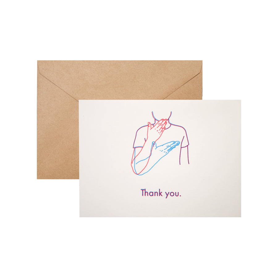 """Thank you"" card in ASL by YOUMEE LEE"