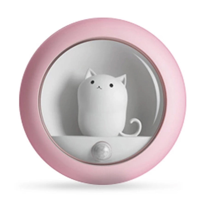Pink with White Cat Motion Sensor Light