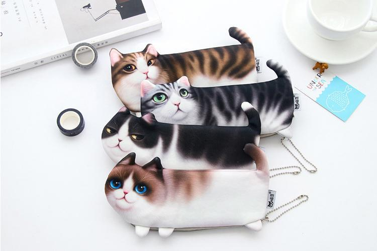 Cute Cat Zippered Pouches
