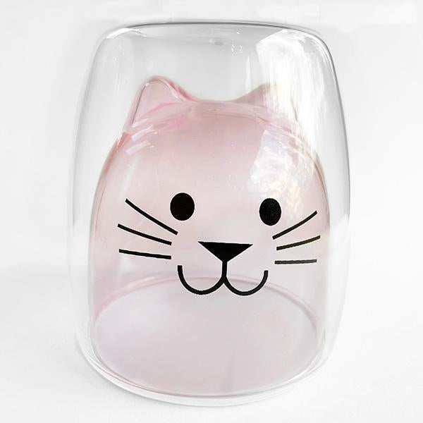 Pink Cat Glass