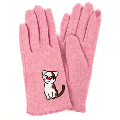 Cat Fashion | Sweet Annie Cat Gloves- pink