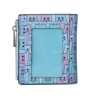 Blue Happy Cat Wallet ID Window