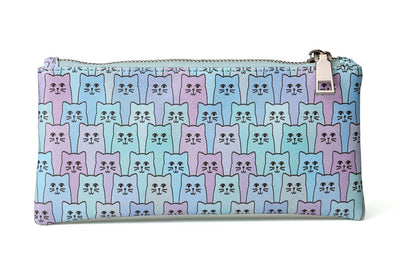 Happy Cat zipper pouch Blue