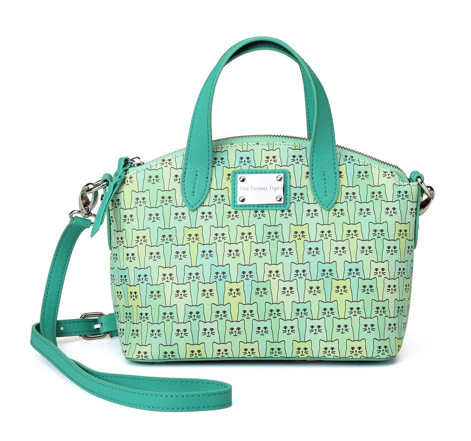 Happy Cat Handbag Green