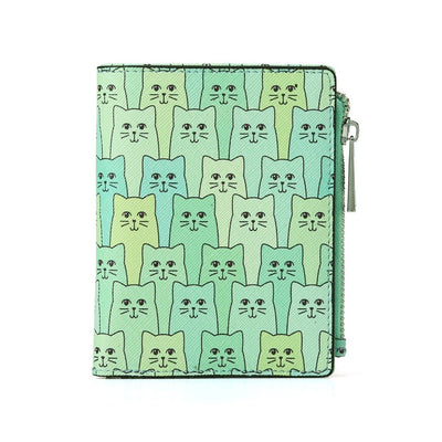 Green Happy Cat Wallet