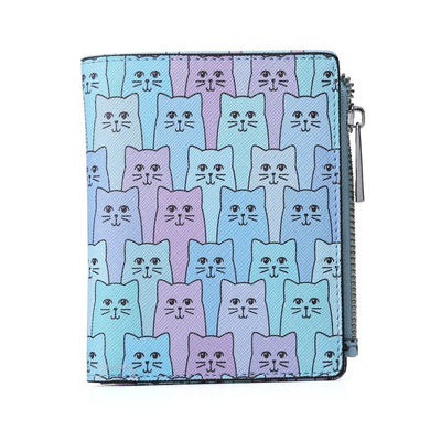 Blue Happy Cat Wallet