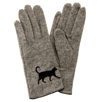 Cat Gloves| Cat Design| Wool Cat Gloves