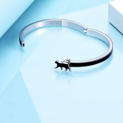 Enamel Cat Bangle | Cat Bracelet