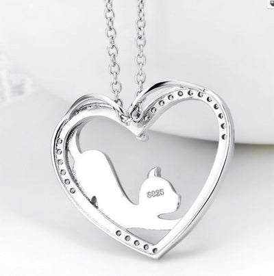 Cat Jewelry | My Heart Cat Necklace 3