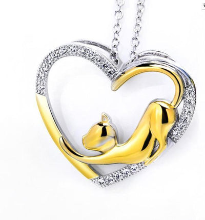Cat Jewelry | My Heart Cat Necklace 4