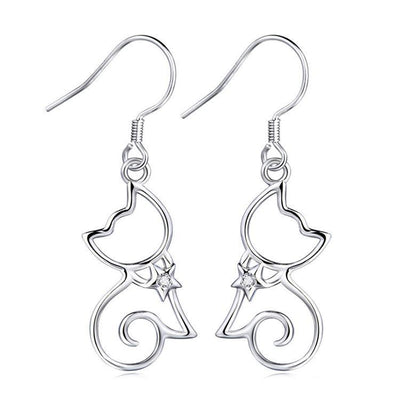 Cat Jewelry | Shining Star Earrings - Triple T Studios - 1