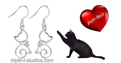 Cat Earrings - Triple T Studios - 2