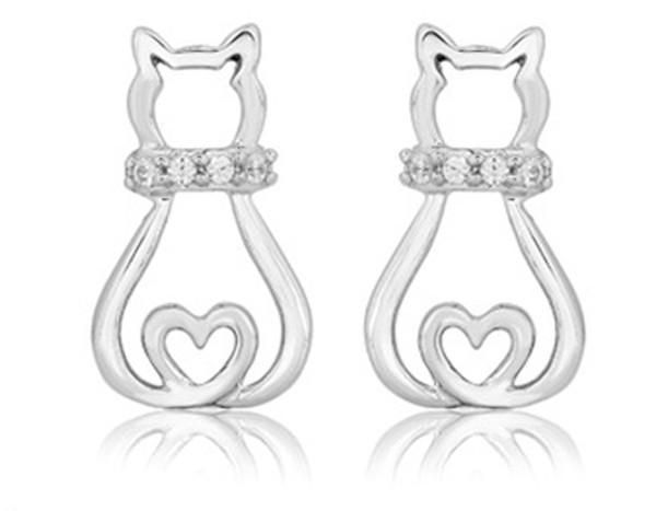 Cat Earrings - Triple T Studios - 1
