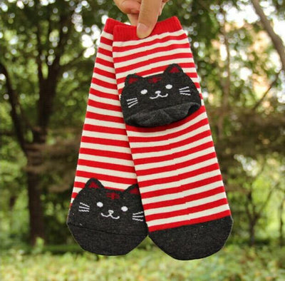 Striped Cat Socks - Triple T Studios - 5