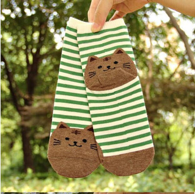 Striped Cat Socks - Triple T Studios - 4