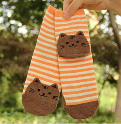 Striped Cat Socks - Triple T Studios - 7