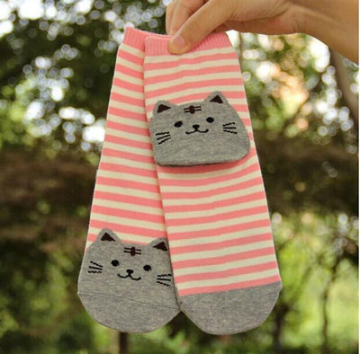 Striped  Cat Socks - Triple T Studios - 3