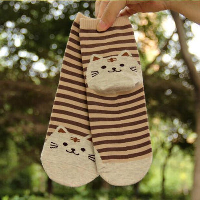 Striped Cat Socks - Triple T Studios - 6