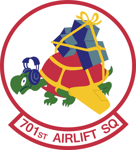 701st Airlift Squadron - Charleston Air Force Base - Shell Clothing Brand Turtle