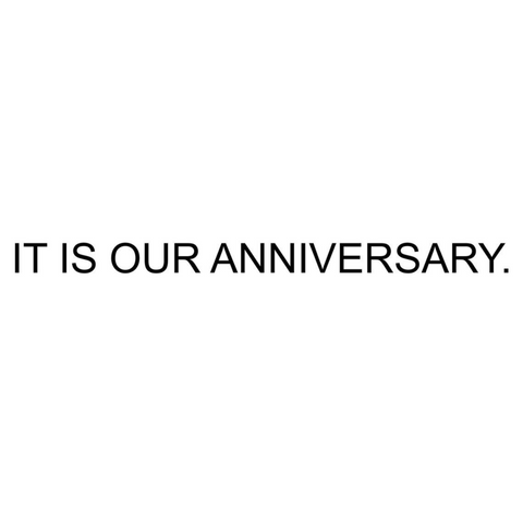It Is Our Anniversary Banner
