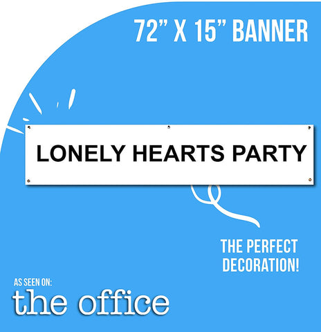 Lonely Hearts Party Banner