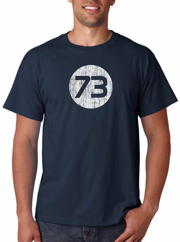 73 T-Shirt from Sheldon Cooper's Closet, as seen on The Big Bang Theory