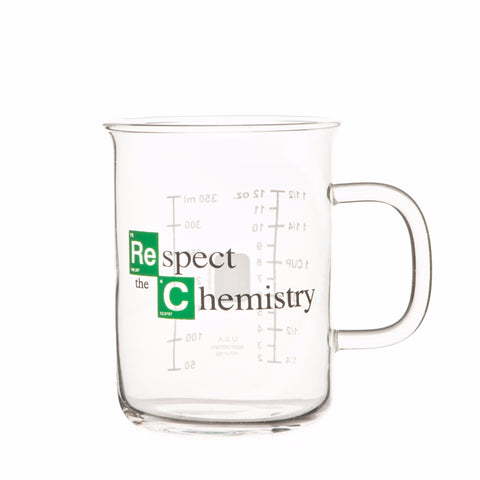 """Respect The Chemistry"" 400mL Beaker Mug, inspired by Breaking Bad"