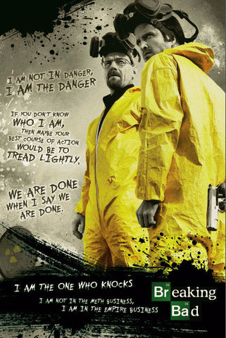 Walter White aka Heisenberg Speaks Up! - Breaking Bad Poster
