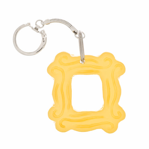 "Yellow Peephole Frame Keychain (2.25"" x 2.25""), inspired by the one on Monica's door on Friends"