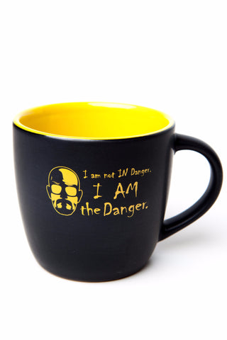 I am the Danger Ceramic Coffee Mug- (yellow/black)