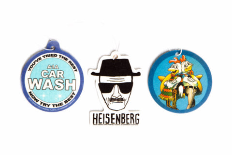 Breaking Bad Air Freshener Set of 3 - Heisenberg, Los Pollos Hermanos, and A1A Carwash