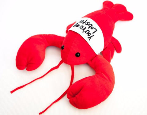"""You're My Lobster"" Medium (17"") Plush in cute T-Shirt, inspired by Friends"